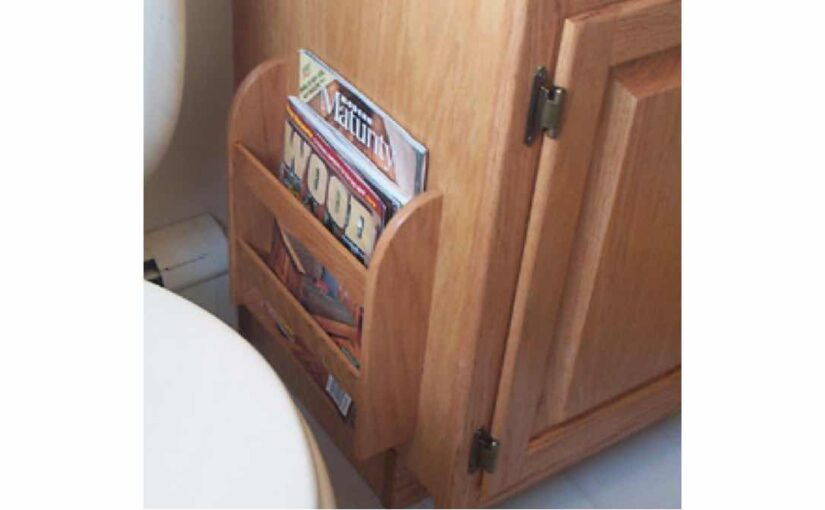Magazine Rack and other bathroom projects.