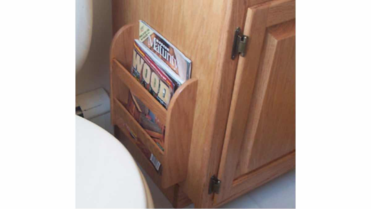 How to make a wooden magazine rack.