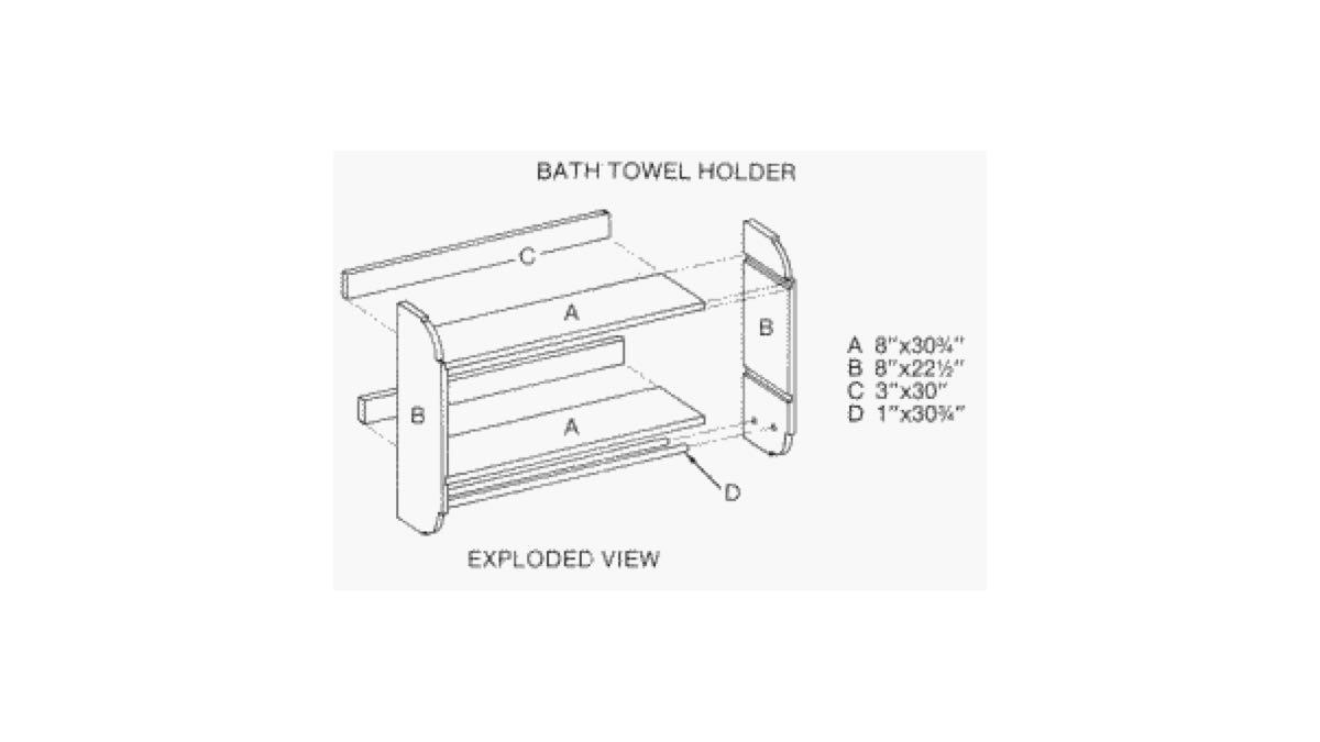 free woodworking plans,bathroom,towel racks