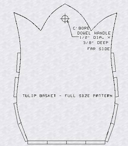 Build a tulip basket using these free patterns.