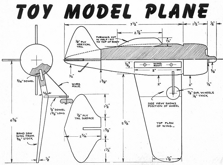 free woodworking plans on how to build a toy plane