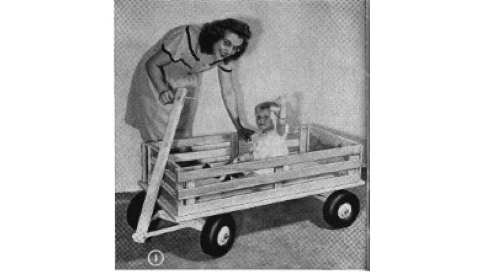 how to make a pull along cart,