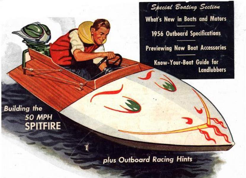 Free plans to build a Hydroplane Spitfire Boat.