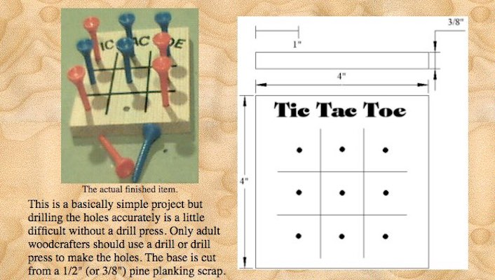 Free plans to build your own TicTacToe Game.