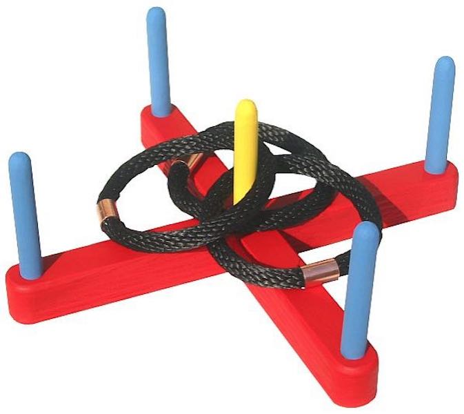 Free plans to build a Ring Toss Game.