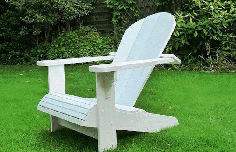 Build a Cape Cod Adirondack Chair using free plans.