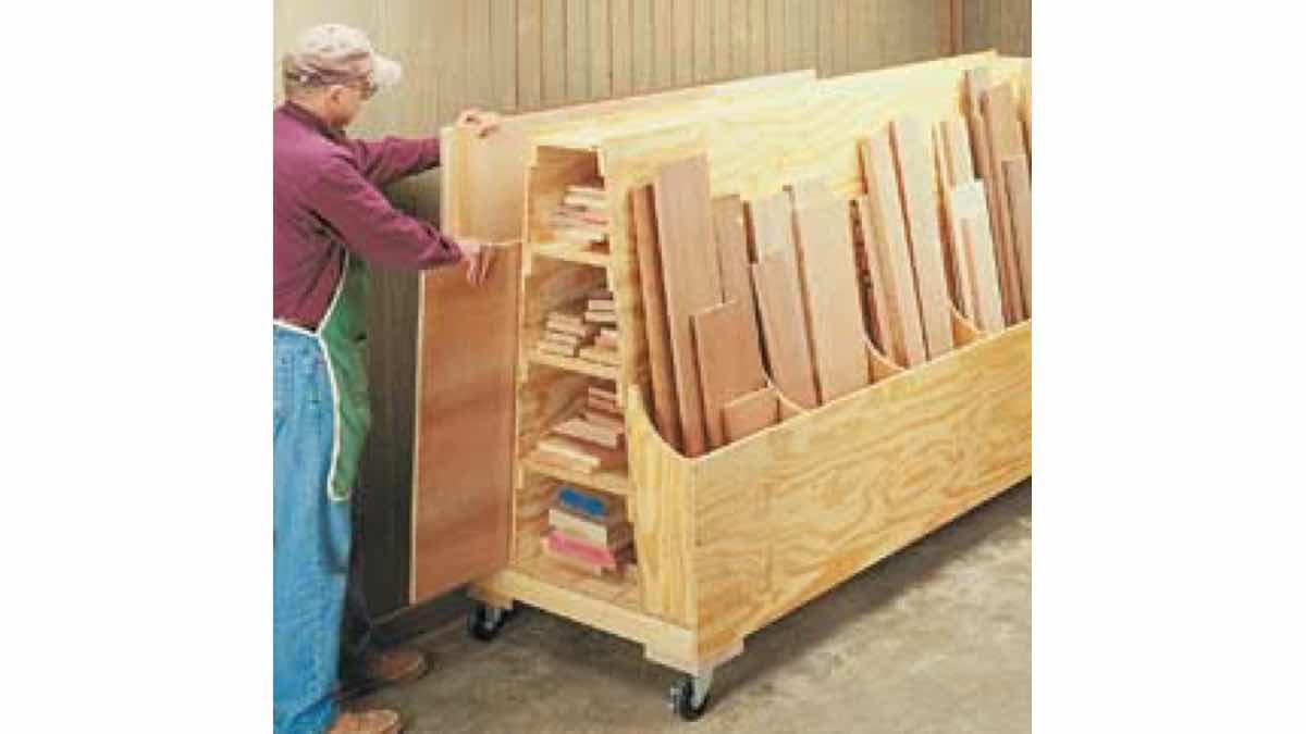 How to make a lumber storage rack.