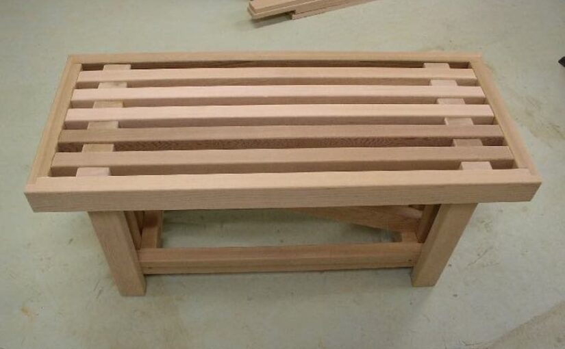 Build an Outdoor Coffee Table or Bench with free plans.