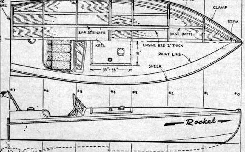 Hydroplane Boat Rocket