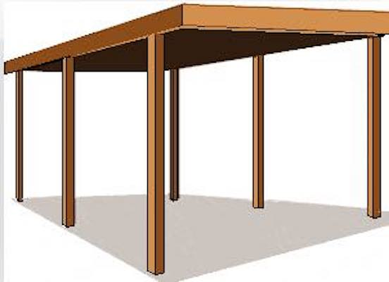 Build a Free Standing Carport using free plans.