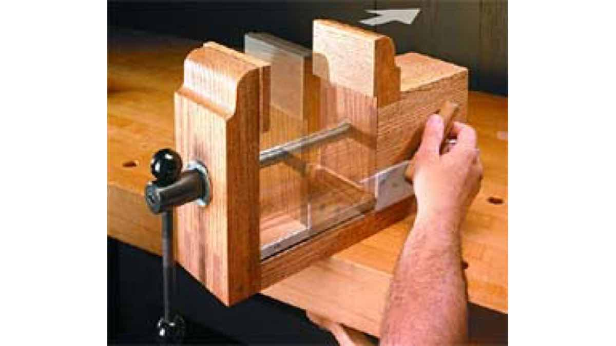 free woodworking plans, projects, bench vise, cam lock, clamps, clamping