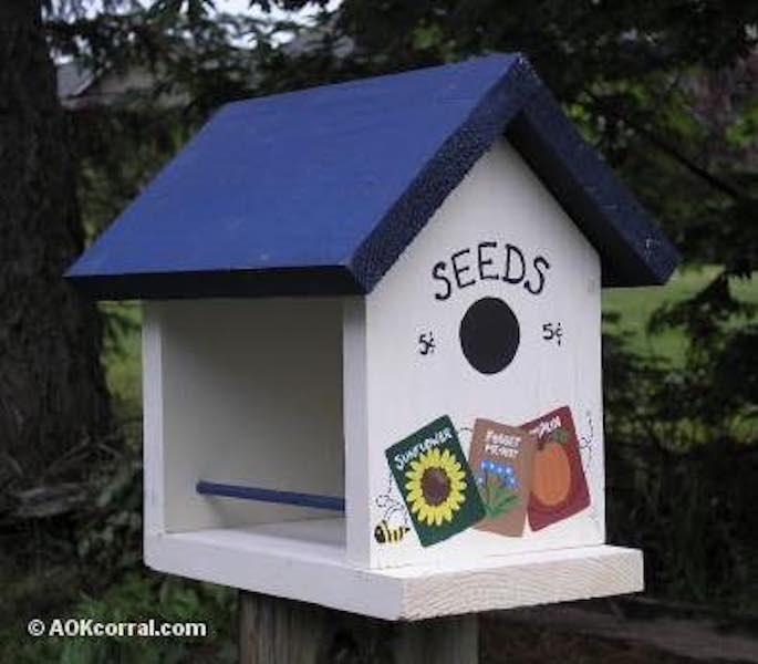 Free plans to build a backyard Bird Feeder.