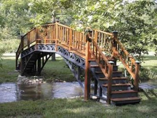 Free plans to build a Large Foot Bridge.