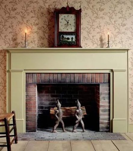 Build your own Simple Federal Fireplace Mantle using free plans.