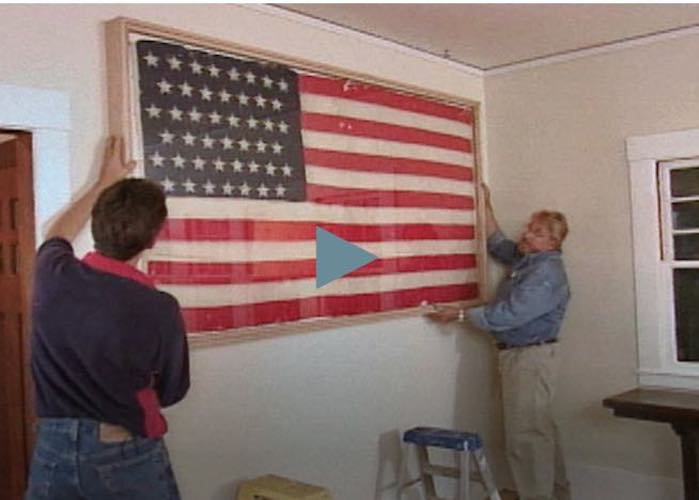 Free plans to build a Flag Preservation Frame.