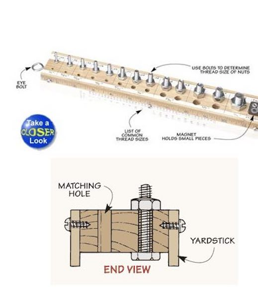 Free plans to build a Thread Sizing Gauge.