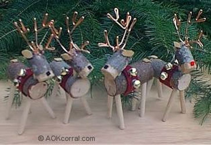 Build a few Reindeer Christmas Tree Ornaments using free plans.