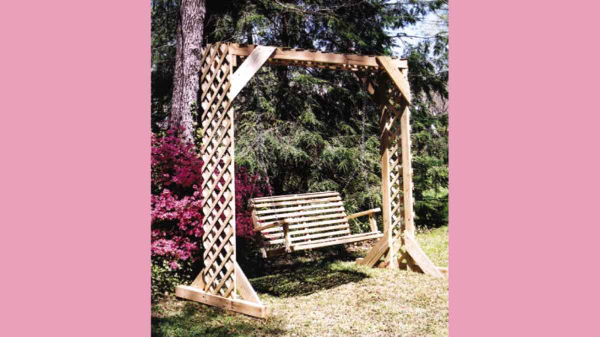 free woodworking plans, projects, swings