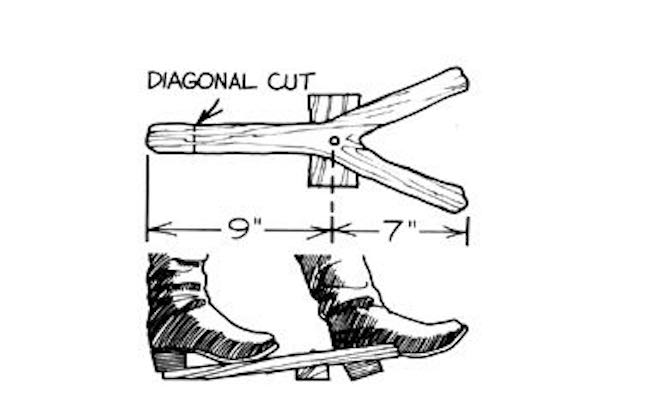 Free plans to build a Fork Limb Boot Jack.