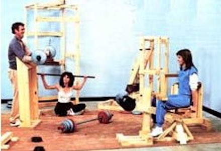 Free plans to build a Wooden Fitness Center.