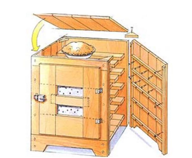 Learn How to build a Pie Safe Cabinet