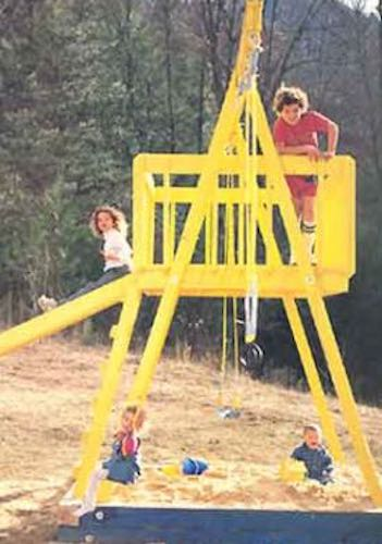 Free plans to build a Swing Playset.