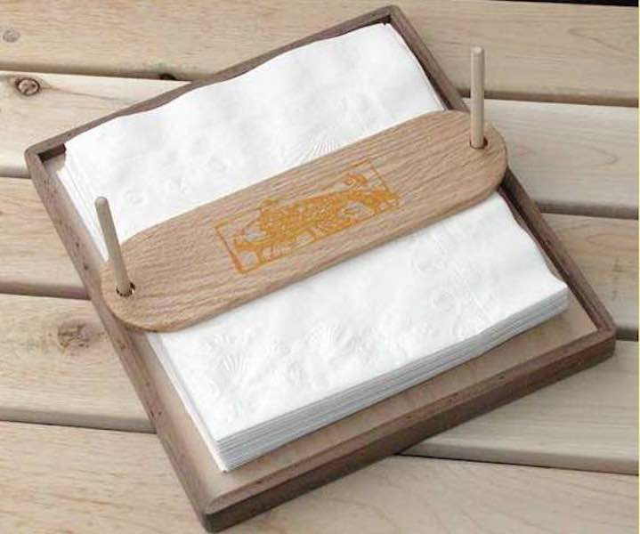 Free plans to build this Handy Napkin Holder.