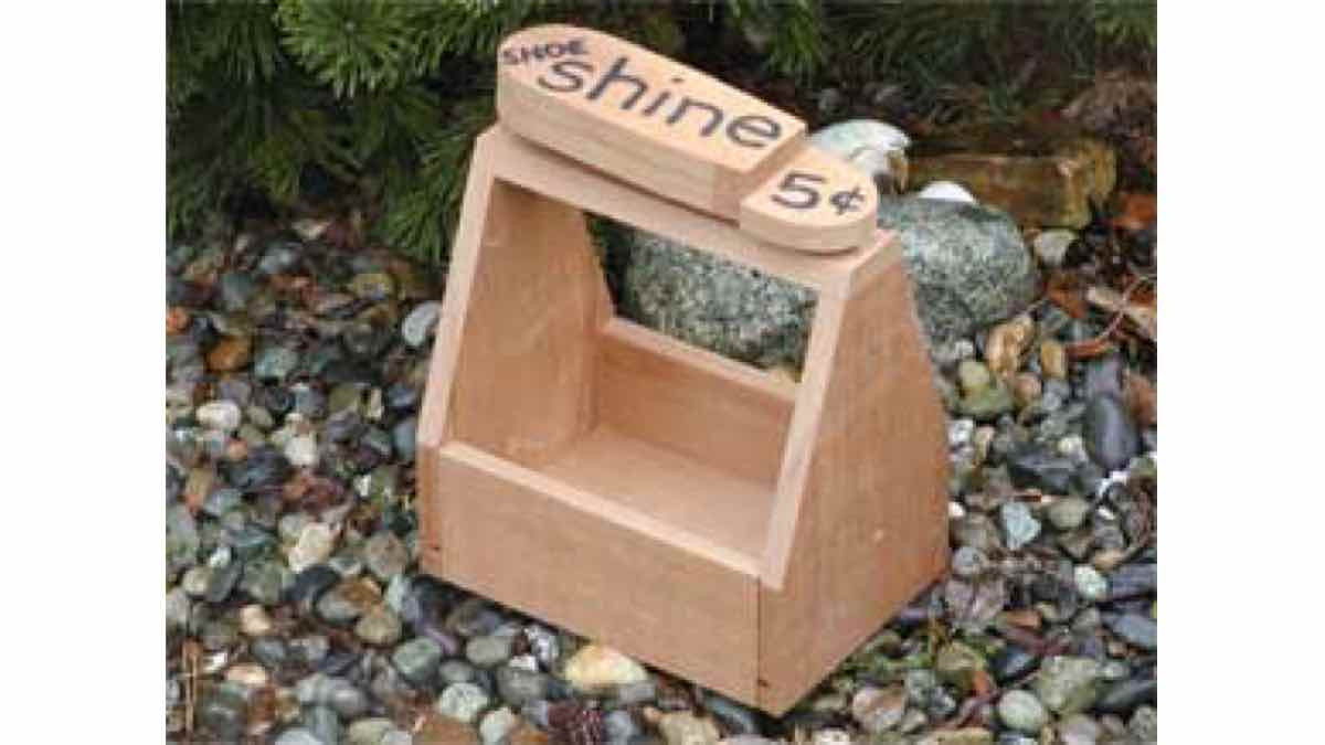free woodworking plans, projects, planter boxes, shoe shine box