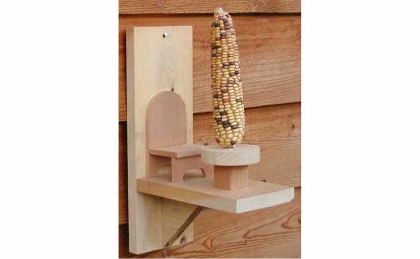 Corn Cob Squirrel Feeder
