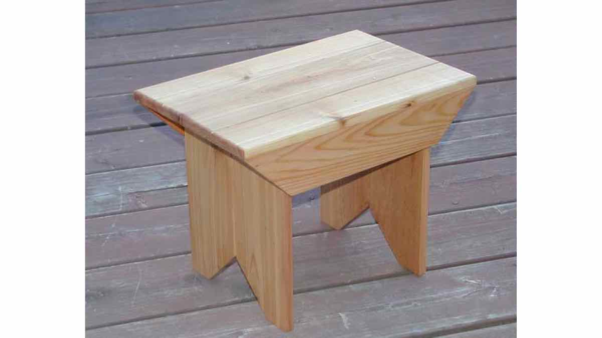 free woodworking plans, projects, stools