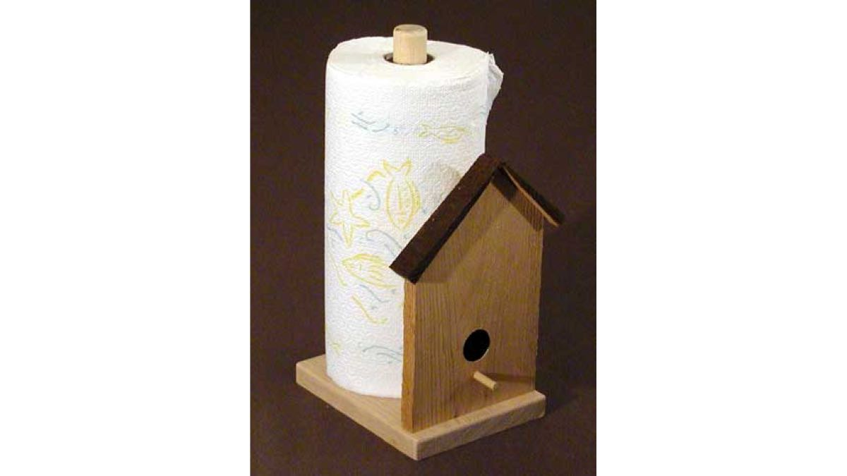 free woodworking plans,paper towel holder