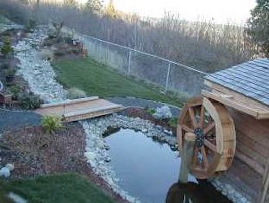 Free plans to build a Waterwheel.