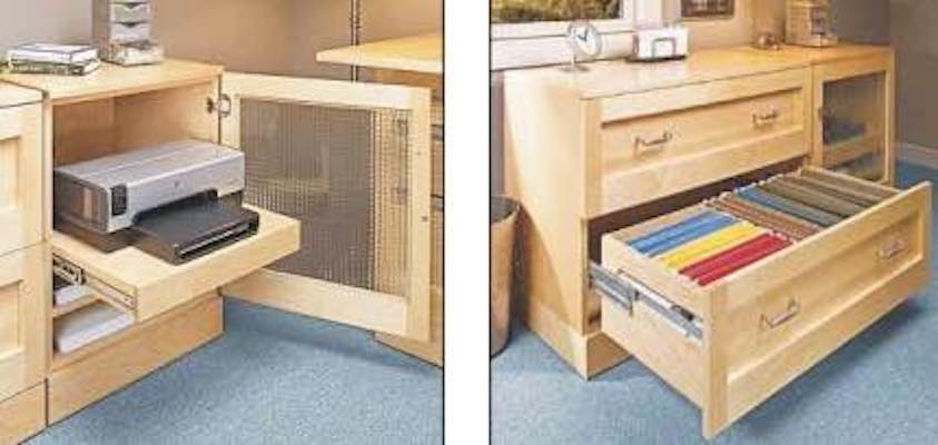 Free plans to build a File and Printer Cabinet.