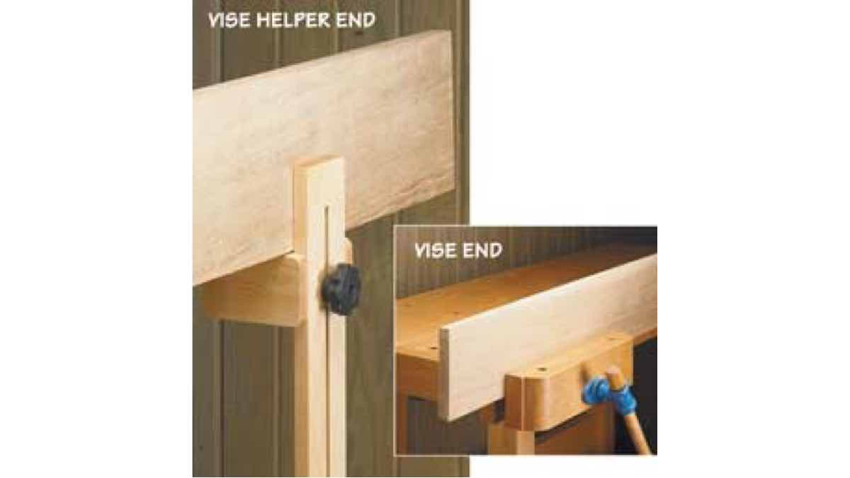 free woodworking plans, projects, workshop, vise, clamping