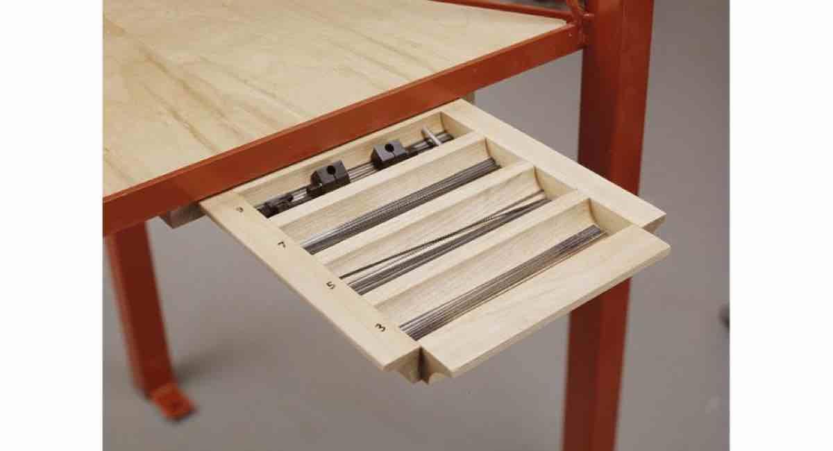 Scrollsaw Blade Workbench Drawer Project Plan