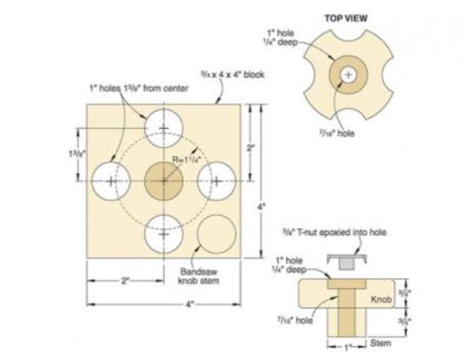 Learn how to build Wooden Knobs for jigs.