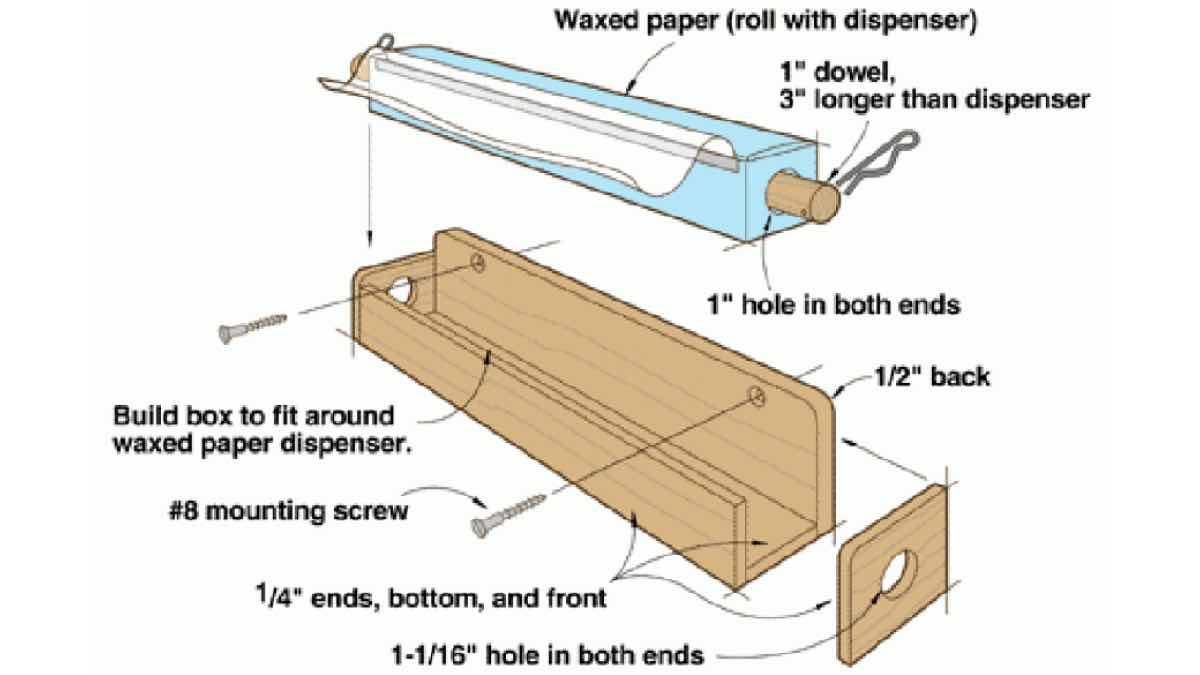 free woodworking plans,projects,patterns,storage,wax paper rolls