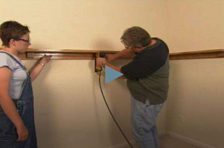 Learn how to install a Arts and Crafts style Plate Rail.
