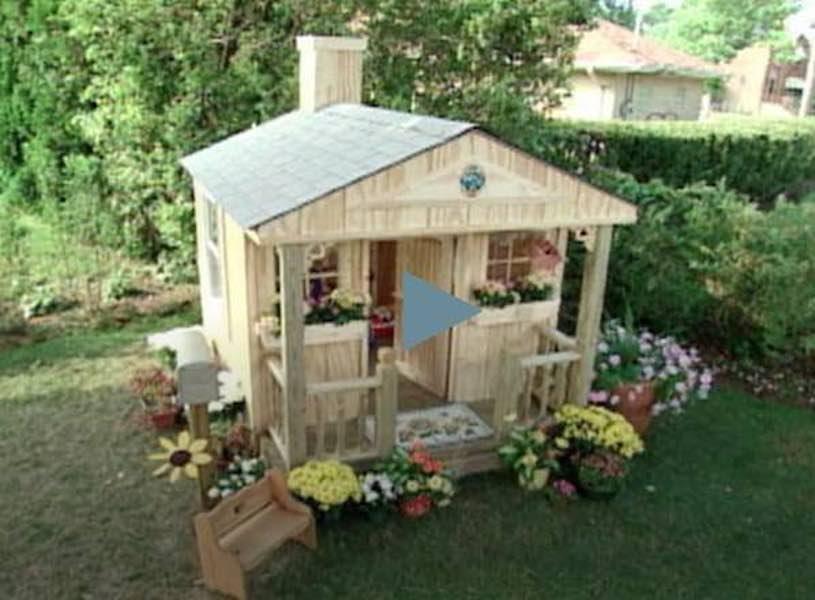 Build a Childrens Playhouse using free plans.