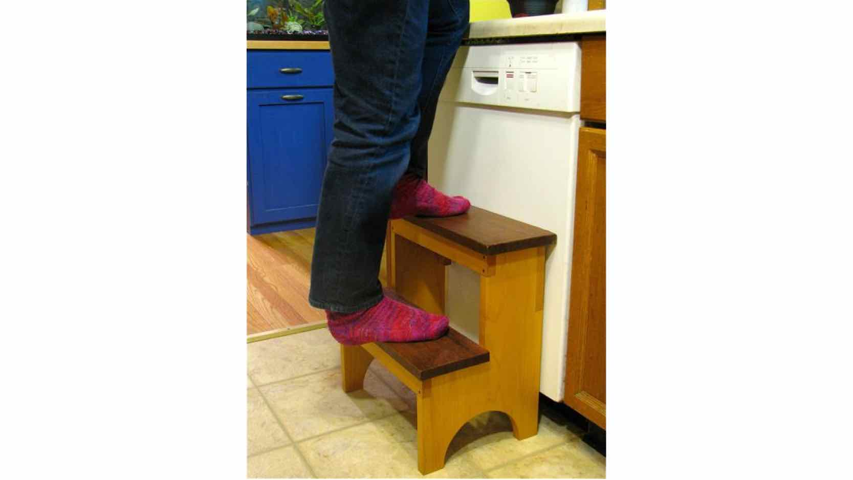 free woodworking plans, projects, step stools