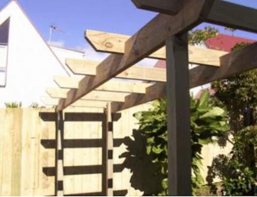Build a Free Standing Garden Pergola using free plans.