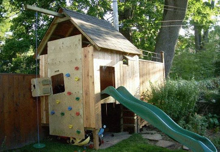 Free plans to build a Play Fort.