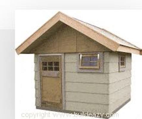 Free plans to build a Playhouse 6 x 6 ft.