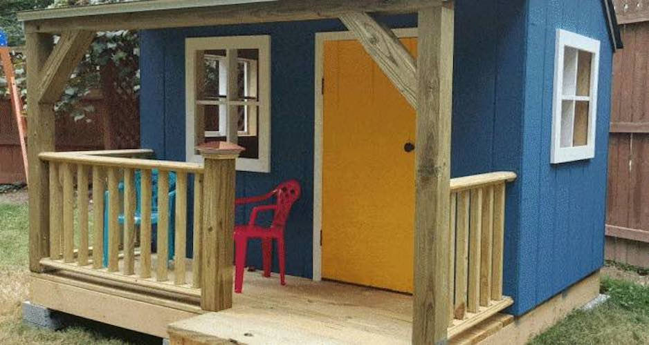 Build a Wendy Playhouse using free plans.