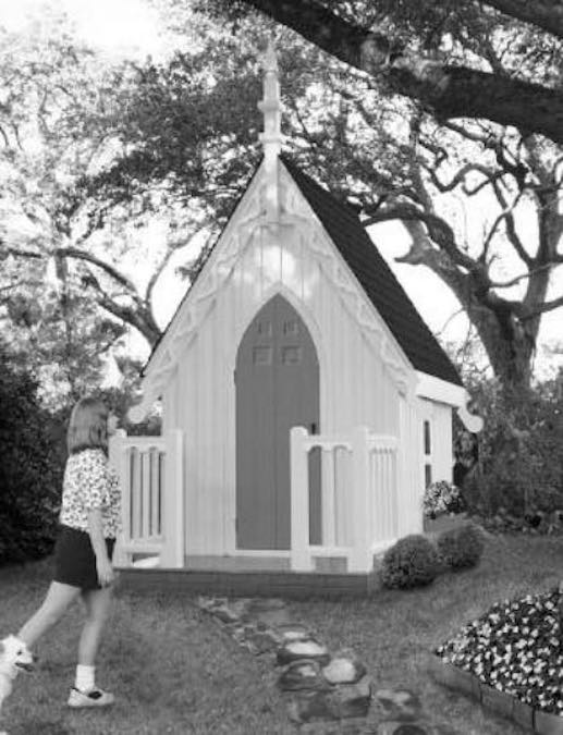 Build an American Gothic Playhouse using free plans.