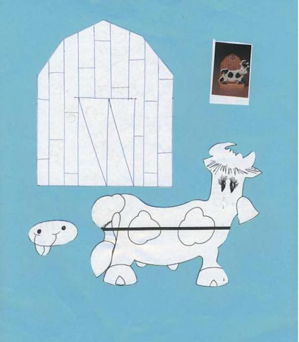 Free plans to build a Cow and Barn Napkin Holder.