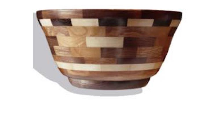 Free plans to make a Segmented Bowl on the lathe.