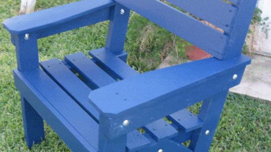 Build a Simple Garden Chair using free plans.