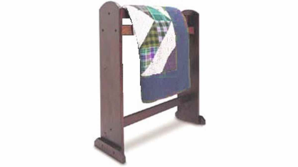 free woodworking plans, projects,quilt racks