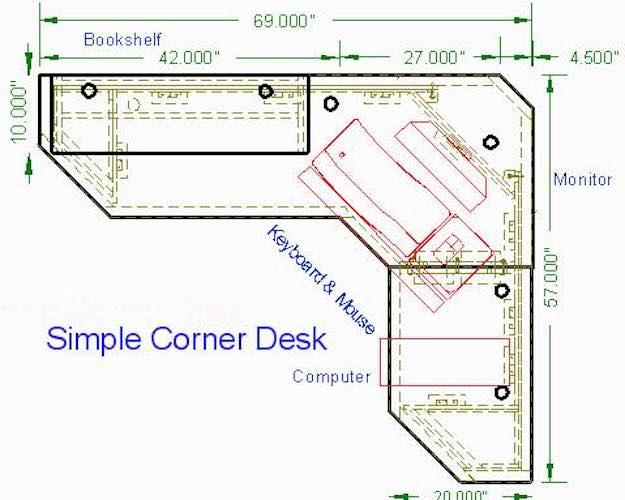 Inexpensive Corner Desk Build